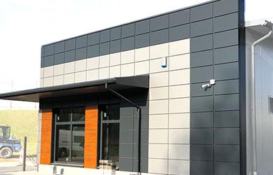 Moderne Fassaden - Kassetten aus Stahlblech