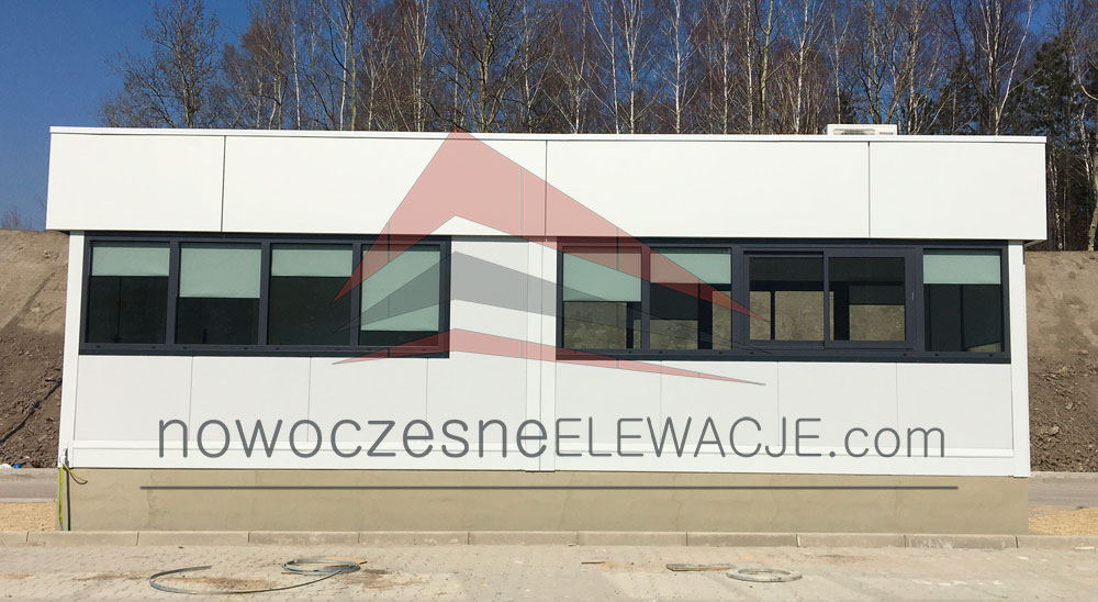Bauen der Modulobjekte - Moderne Fassaden